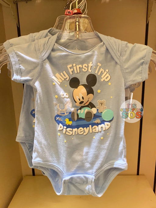 "DLR - Baby Onesie (Infant & Toddler) - Mickey Mouse ""My First Trip to Disneyland"""
