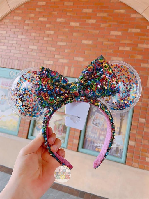 SHDL - Minnie Mouse Colorful Glitter Clear Ears Headband