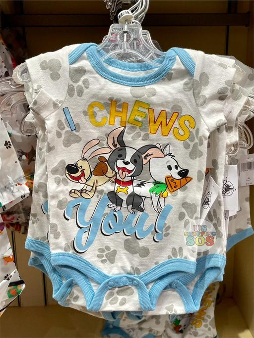 DLR - Disney Reigning Cats & Dogs 🐾 - Disney Dogs I Chews You Baby Onesie (Infant & Toddler)