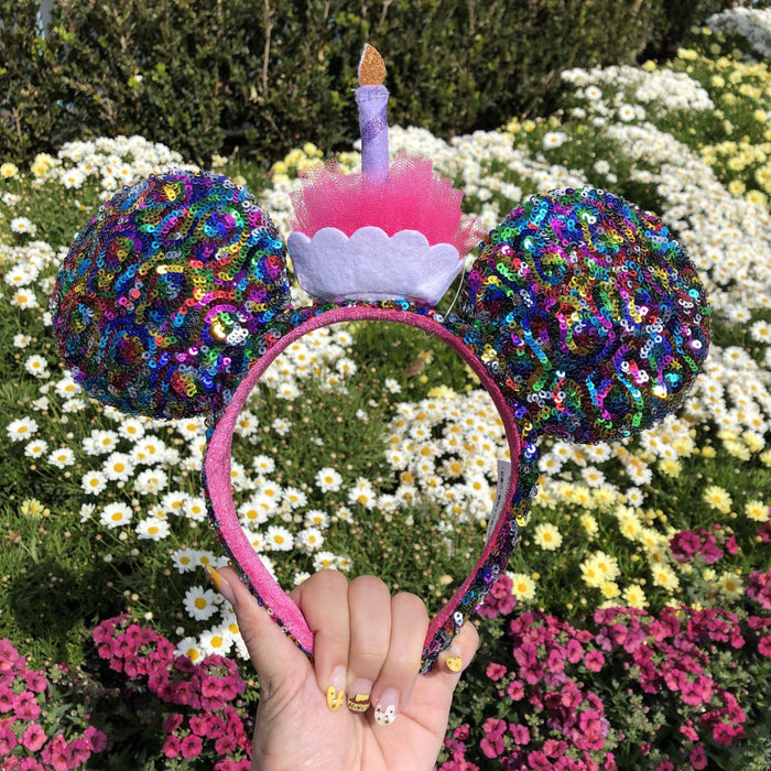 DLR - Minnie Birthday Cupcake Sequin Headband