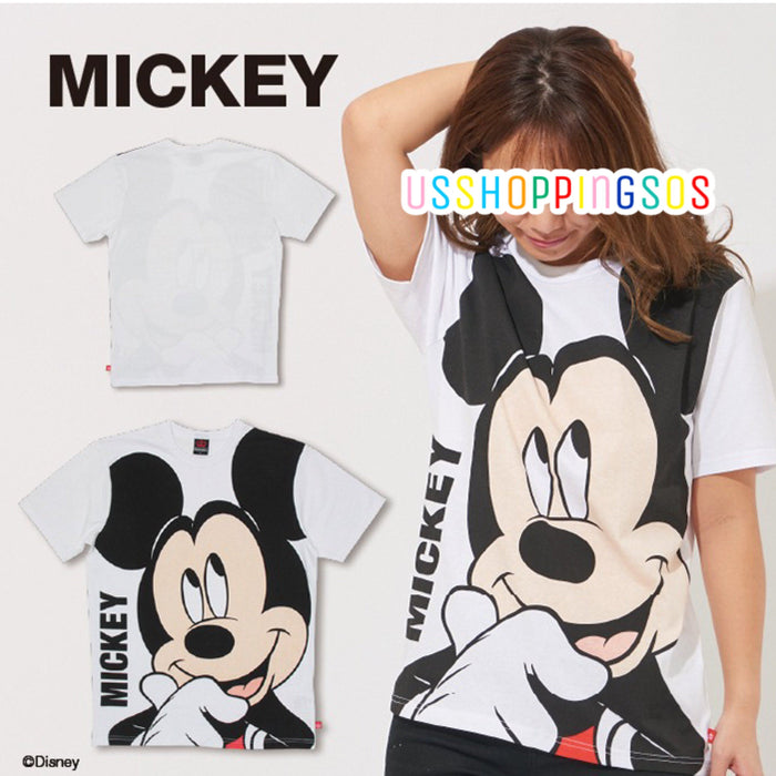 Japan Exclusive - Disney Character Big Face T-shirt - Mickey Mouse