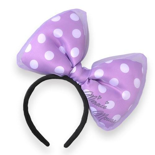 TDR Minnie Big Bow Headband (Purple)