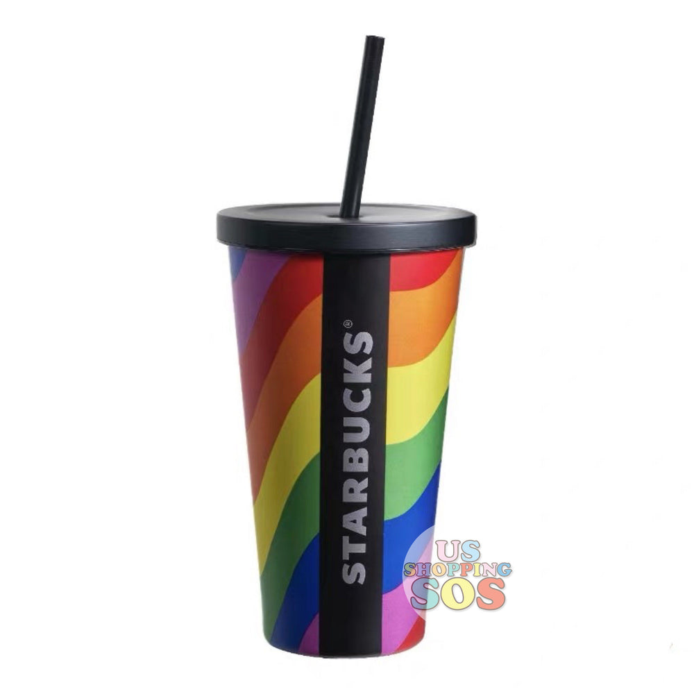 Starbucks China - Valentine 2020 - Rainbow Stainless Steel Cold Cup (550ml)