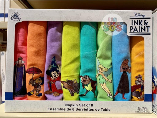 HKDL - Ink & Paint - Napkin Set of 8