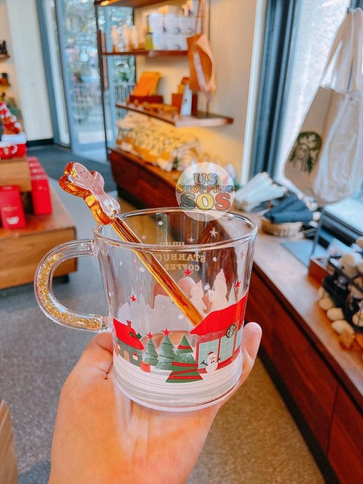 Starbucks China - Christmas Time 2020 (Store 1st Series) - Gingerbread Glass with Stir 356ml