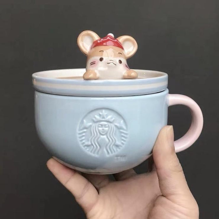 Starbucks China - New Year 2020 Mouse Vacation - 340ml Coffee Mouse Mug with Lid