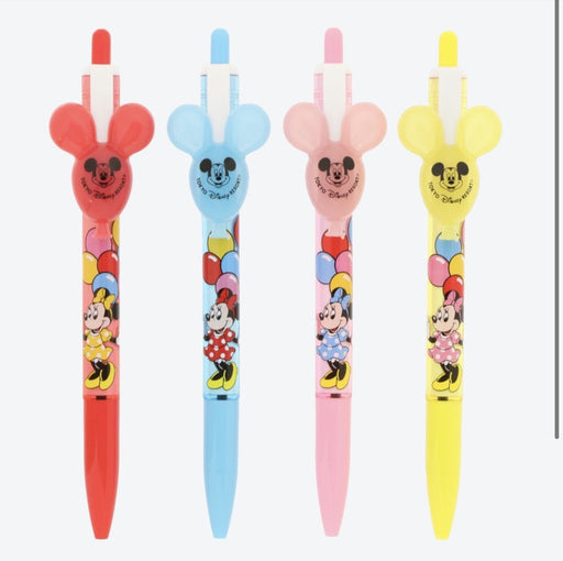 TDR - Mickey Mouse Balloon Black Color Ballpoint Pen Set of 4