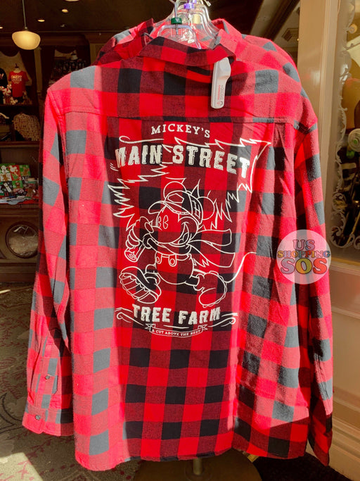 "DLR - Christmas 2019 - ""Mickey's Main Street Tree Farm"" Plaid Shirt"