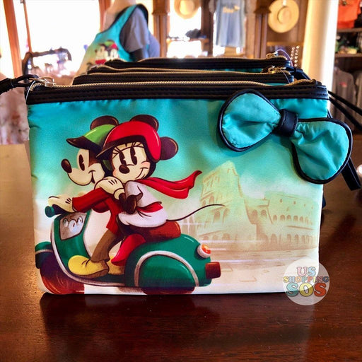 WDW - Epcot World Showcase Italy - Mickey & Minnie Motorcycle Simulated Leather Pouch