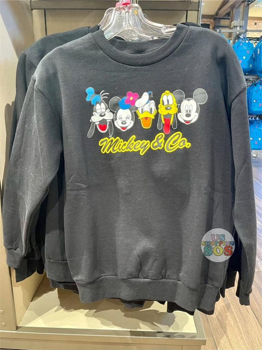 DLR - Mickey & Co. Pullover - Mickey & Friends Black (Adult)