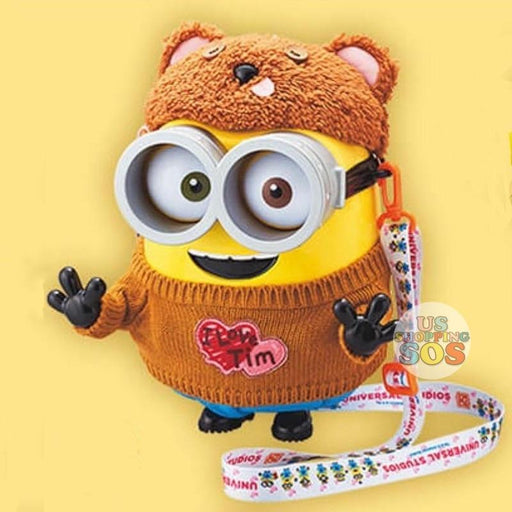 "USJ - Minion Popcorn Bucket - Bob in ""I Love Tim"" Sweater"