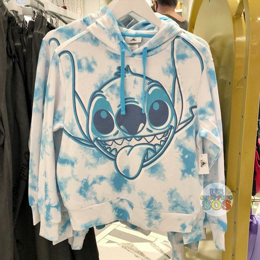 "WDW - Tie-Dye ""Walt Disney World"" Stitch Hoodie Pullover Blue (Adult)"