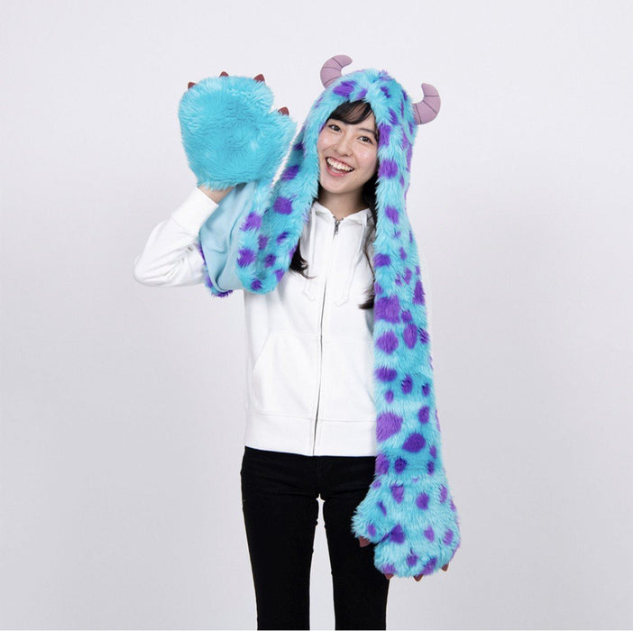 TDR - 3 in 1 Beanie with Long Paw Scarf x Sulley