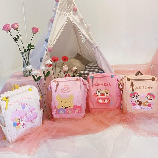 Disney Collaboration - Pink Season Square Nylon Backpack (4 colors)