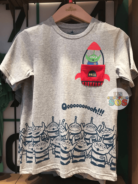 HKDL - Ooooooooooh!!! Alien in Rocket Tee (Heather Grey)