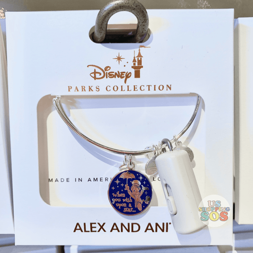 "DLR - Alex & Ani Bangle - Jiminy Cricket ""When you wish upon a Star..."""