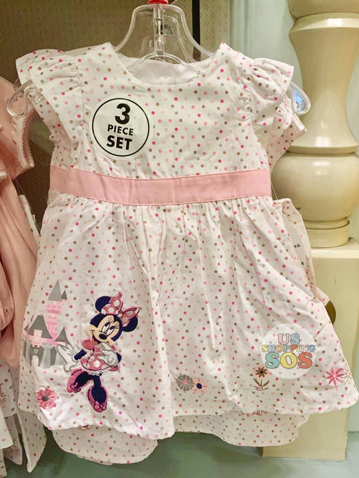 DLR - Minnie Baby Dress 3-Piece Set (Pink Polka Dot)
