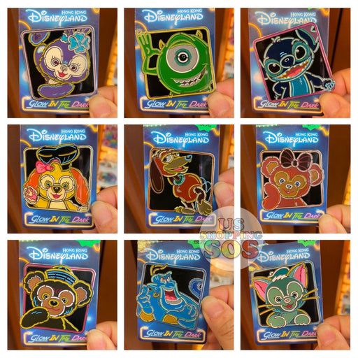 HKDL - Glow in the Dark Pins x
