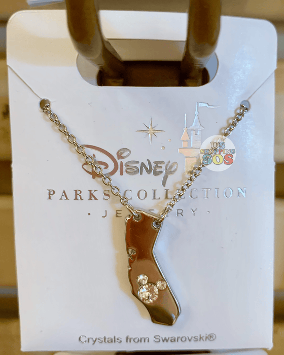 DLR - Disney Parks Jewelry - Swarovski Crystal Mickey California Necklace (Gold)