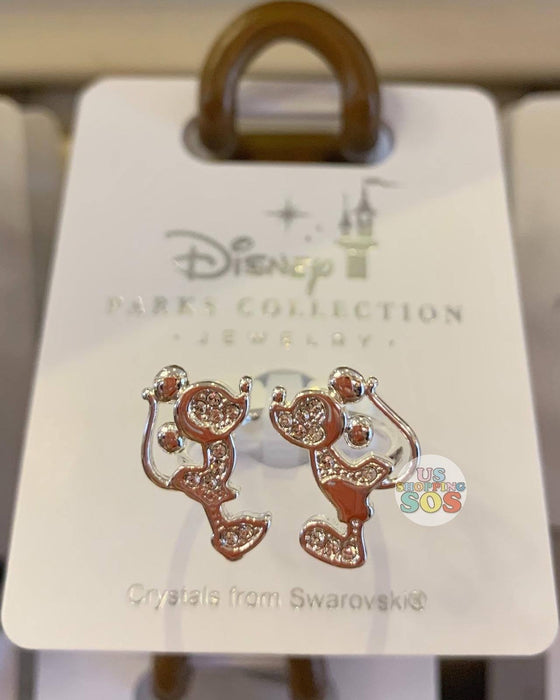 DLR - Disney Parks Jewelry - Swarovski Crystal Mickey & Minnie Kissing Ring