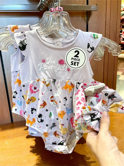 DLR - Disney Reigning Cats & Dogs 🐾 - Disney Cats I'm Purr-fect Onesie with Bow (Infant & Toddler)