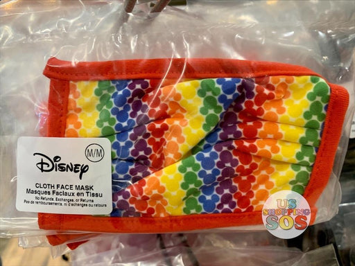 DLR - Cloth Face Mask - All-Over-Print Mickey Mouse Rainbow