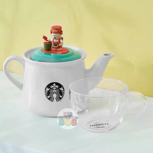 Starbucks China - Cherish Cutie - Bearista Tea Pot & Glass Set
