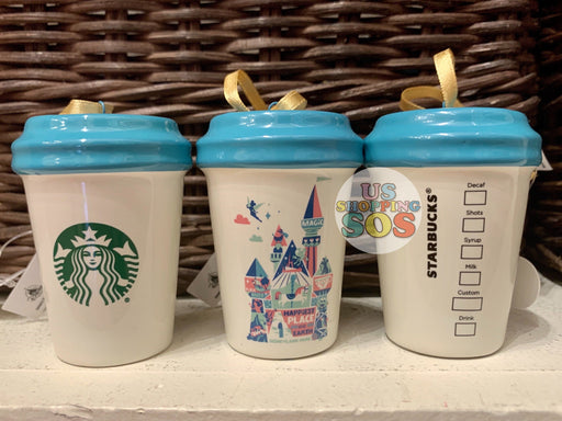 "DLR - Starbucks Tumbler Ornament - Disneyland Park ""Happiest Place on Earth"""