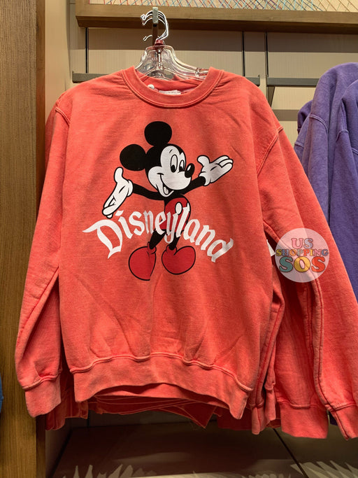 "DLR - Mickey ""Disneyland"" Classic Pullover (Adult) - Red Orange"