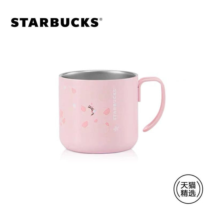 Starbucks China - Sakura 2021 - Hidden Kitty Cherry Blossom Classic Stainless Steel Cup 355ml
