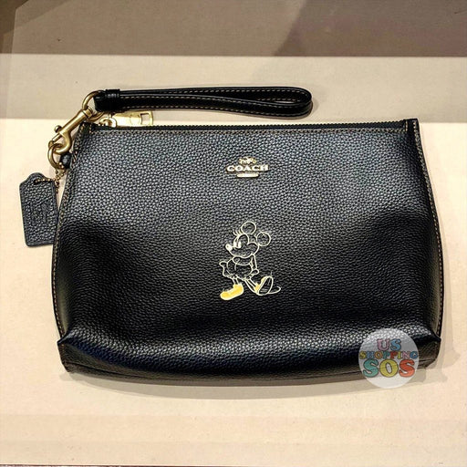 WDW - Coach Hand Painted Minnie Pouch Black