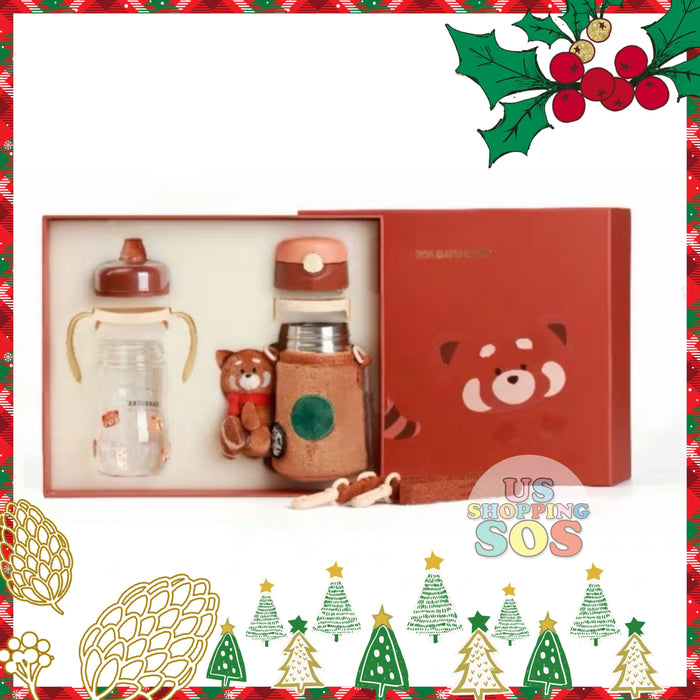 Starbucks China - Christmas Time 2020 (Store 1st Series) - Thermos Red Panda Bottle Set of 2