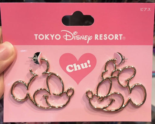 TDR - Face Icon Pierced Earrings Set - Mickey & Minnie
