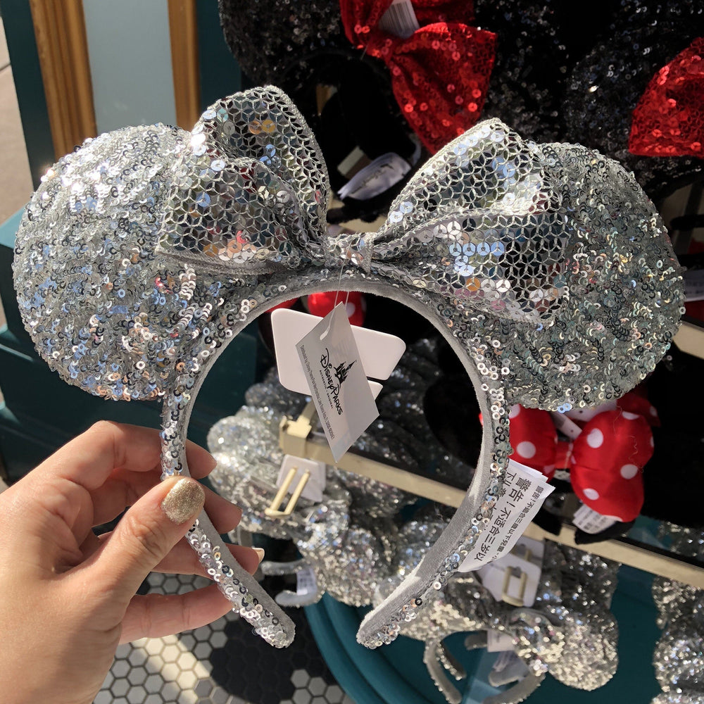 DLR - Minnie Silver Sequin Headband