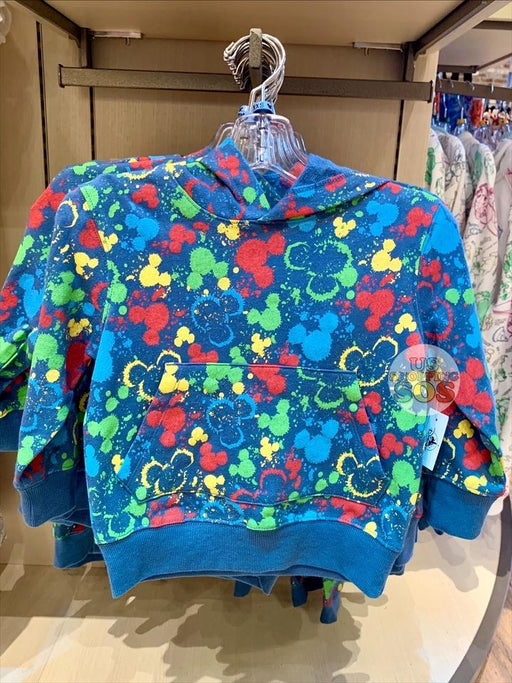DLR - Ink & Paint - All-Over-Print Mickey Icon Color Splash Hoodie Sweatshirt (Youth)
