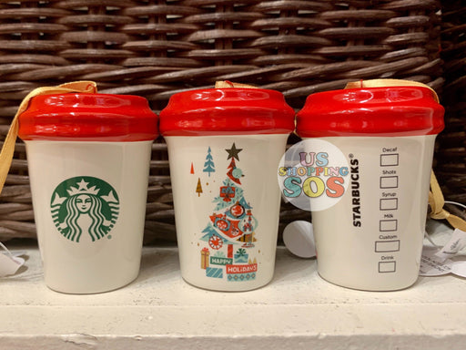 "DLR - Starbucks Tumbler Ornament - ""Happy Holiday"""