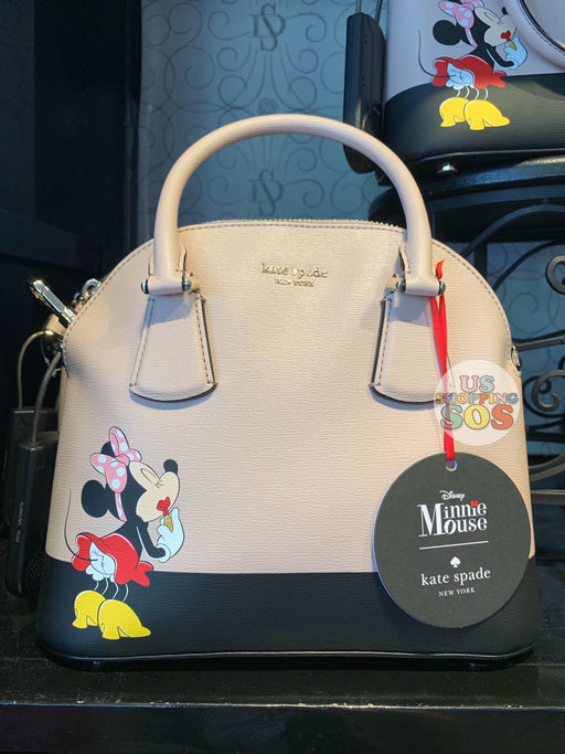 DLR - Kate Spade New York - Minnie Mouse Applying Lipstick Medium Dome Satchel Bag