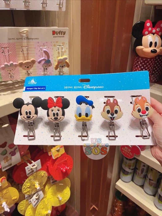HKDL - Hooking Wire Clip Set - Mickey & Friends
