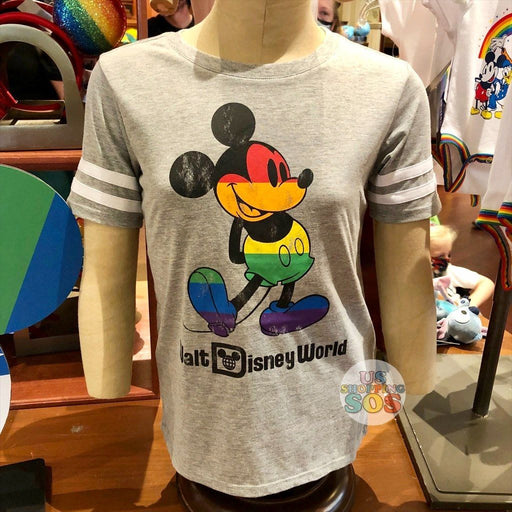 "WDW - Rainbow Collection - Mickey ""Walt Disney World"" Grey T-shirt  (Youth)"