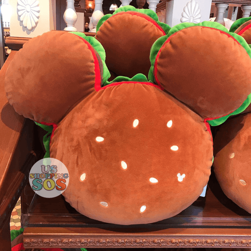 TDR Mickey Hamburger Pillow Cushion