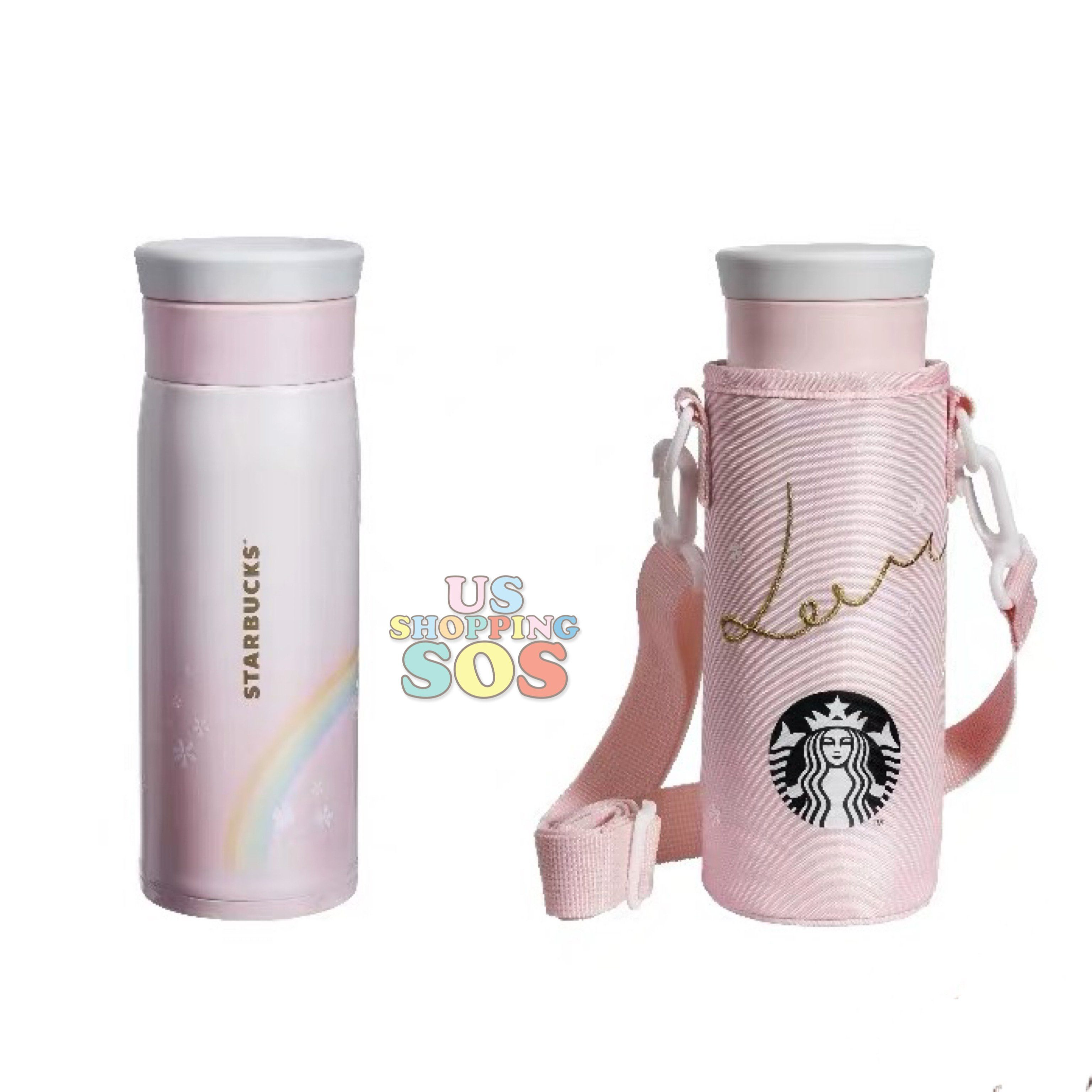 Starbucks China - Valentine 2020 - Love & Peace Thermos Rainbow Promise Bottle with Carrier (480ml)