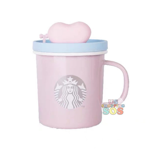 Starbucks China - Valentine 2020 - Love & Peace LED Heart Lid Pink Mug (385ml)