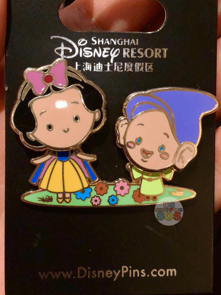 SHDL - Snow White & Dopey in the Garden Pin by JMaruyama