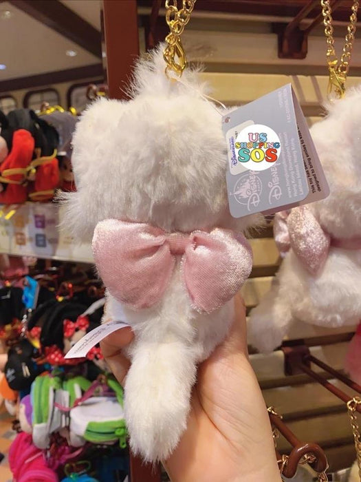 HKDL - Pastel Color Fluffy Plush Keychain x Marie