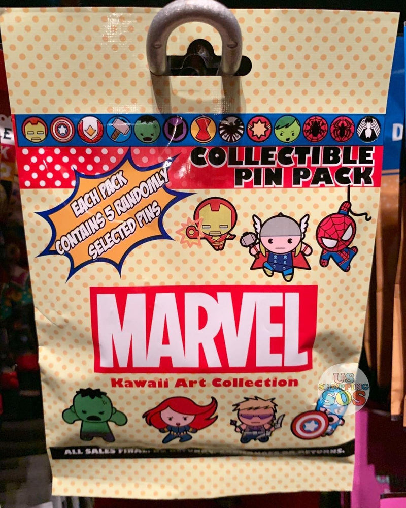 DLR - Mystery Collectible Pin Pack - Marvel Kawaii Art