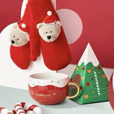 Starbucks China - Christmas Time 2020 Cuteness Overload - Bearista Gloves & Mug 450ml