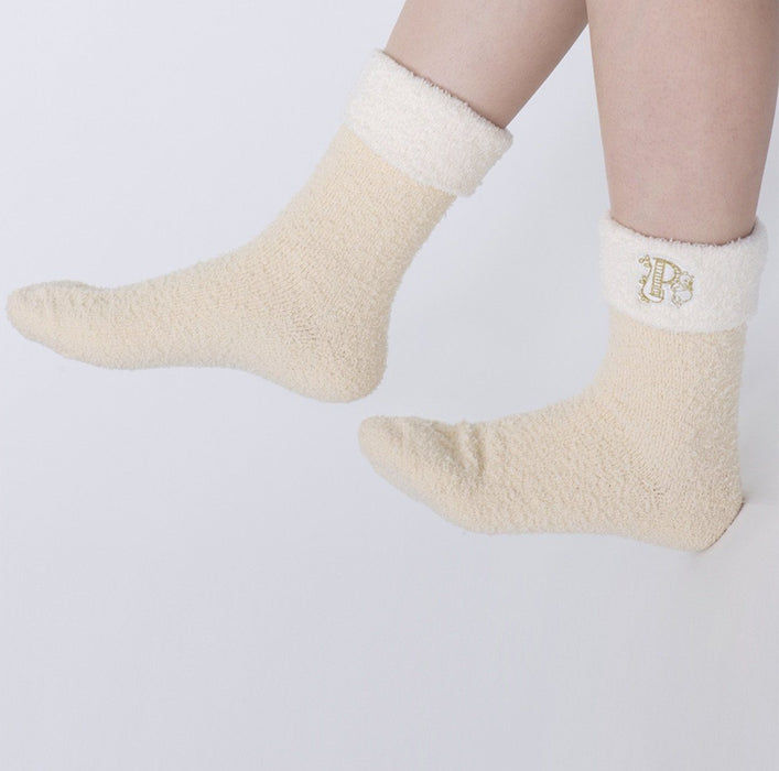TDR - Fluffy Winnie the Pooh Socks (Color: Orange)