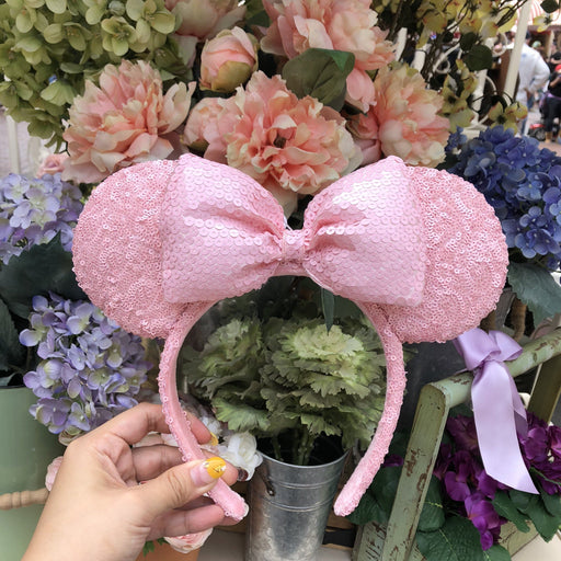 DLR - Minnie Millennial Pink Sequin Headband