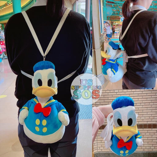 SHDL - Rubber Donald Duck Shaped Plush Toy & Crossbody Bag