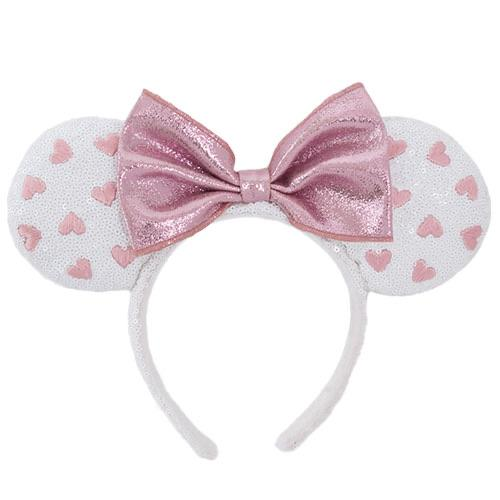 TDR - Minnie Sweetheart Headband - Pink/White